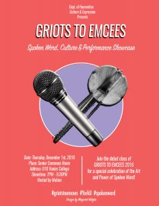 Griots to Emcees: Spoken Word, Culture & Performance Showcase @ Senior Common Room | Ottawa | Ontario | Canada